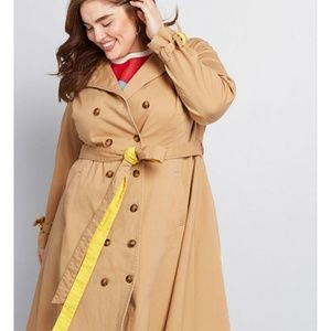 A line Trench with Yellow Trim 2x Modcloth